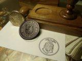 Сургучна печатка з гербом та Сургучная печать с гербом